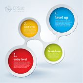 Simply infographic step by step vector  template