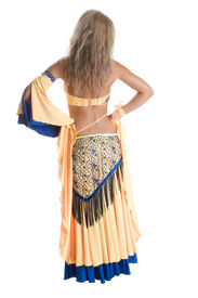 image of belly-dance  - Girl dances east dance isolated on a white background - JPG