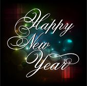 Happy New Year 2014 celebrations flyer, banner, poster or invitation with stylish text on dark background.