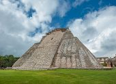 Pyramid Of The Magician In Uxmal, Yucatan, Mexico