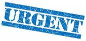 Urgent Blue Grunge Stamp