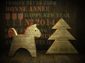wooden horse by new year