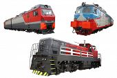 The image of modern locomotives