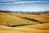 A beautiful landscape near Pienza Tuscany Italy