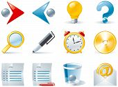 Set 1of color computer icons