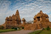 Kandariya Mahadeva Temple, Dedicated To Shiva - Left Side And Debi Jagdambi Temple, Khajuraho