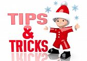 Tips Sign Presented By Mini Santa Claus