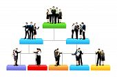 image of hierarchy  - easy to edit vector illustration of organisation tree with different hierarchy level - JPG