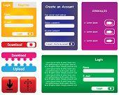 Vector website buttons