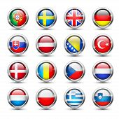 pic of holland flag  - Set of world flag glass icons - JPG