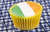 Vanilla Cupcake With Irish Colours