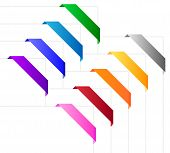 Corner ribbons in various colors
