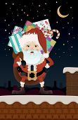Christmas Santa Claus on the Roof