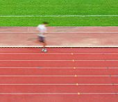 Man running on track