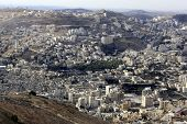 image of samaria  - Nablus, the Biblical City of Shechem in the Samaria, betwen the Ebal Mount and Gerizim Mount, Holy Land, Israel