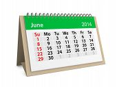 Monthly Calendar For New Year 2014. June