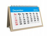 Monthly Calendar For New Year 2014. December