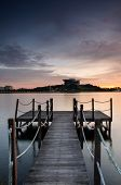 Wooden Jetty at Putrajaya Dam