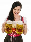Beautiful Woman Serving Oktoberfest Beer