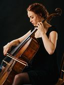 Cellist And Her Old Cello