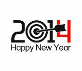 Happy new year 2014 text design