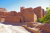 The fortified town of Ait ben Haddou near Ouarzazate Morocco on the edge of the sahara desert in Mor