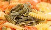 tagliatelle paglia e fieno and different pastas.