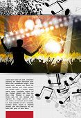 Music event poster. Vector