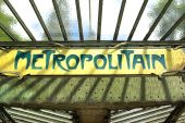 stock photo of marquise  - Detail view of a typical metropolitan sign board in Paris - JPG