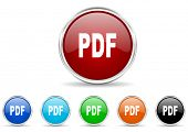 pdf icon set