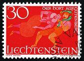Postage Stamp Liechtenstein 1967 The Treasure Of Gutenberg