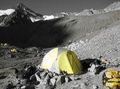 stock photo of aconcagua  - Base Camp on Aconcagua Argentina - JPG
