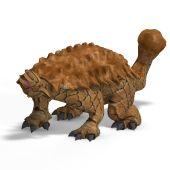 image of ankylosaurus  - strange dinosaur Ankylosaurus With Clipping Path over white - JPG