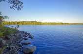 image of early morning  - Early Morning Light on Saganaga Lake in the Boundary Waters - JPG