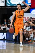VALENCIA - MAY, 1: Van Rossom drives the ball during a Eurocup Finals match between Valencia Basket