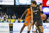 VALENCIA - MAY, 3: Grimau with ball during a Spanish league match between Valencia Basket Club and B