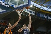 VALENCIA - MAY, 3: Inside shot of Grabriel #12 during a Spanish league match between Valencia Basket