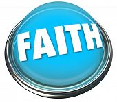 Faith Word Button Light Spiritual Belief God Higher Power