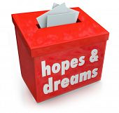 Hopes Dreams Words Collection Box Desires Aspirations