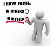 I Have Faith in Myself vs Others Choose Self Reliance Confidence