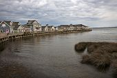 DUCK, NORTH CAROLINA - MAY 2, 2014:  The Waterfront Shops in Duck offer a unique shopping experience