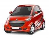 Red Hybrid 3D Car