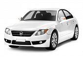 White smart car.