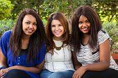 Three Beautiful Girls Smiling