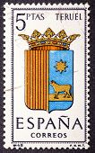 Arms Of Provincial Capitals Shows Teruel