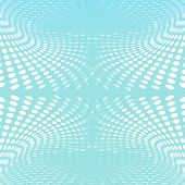 Abstract Blue Background Circles Wave