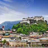 Beautiful view of Salzburg skyline ,Austria