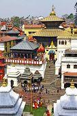 Kathmandu - Pashupatinath Temple cremation complex. Nepal