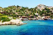 The Bay And Castle In Kekova, Turkey