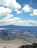 Rangitoto Island in the Hauraki Gulf, Auckland, New Zealand.